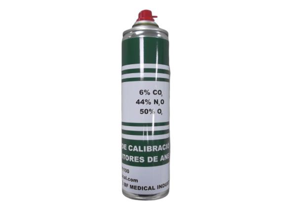 BF1100 – Gas de calibración para monitores de anestesia  6% CO2 – 44% N2O – 50% O2. Gases especiales y de calibración