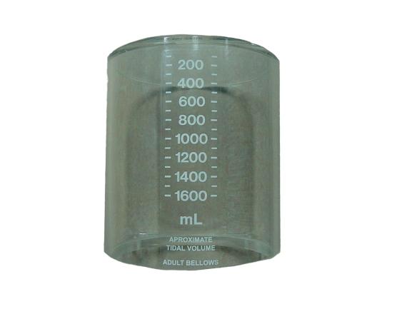 Tubo de acrílico para respiro conversor de máquina de anestesia Adox. BF170 Partes para máquinas de anestesia