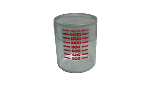 Tubo de acrílico para respirador descendente de máquina de anestesia Narkomed 2A. BF182 Partes para máquinas de anestesia