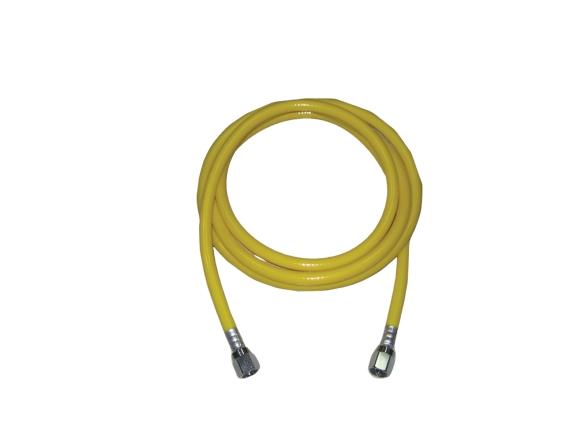 BF201 – Manguera para aire comprimido. Atoxica, sellos mecánicos, color amarillo, largo 3 mts Partes para máquinas de anestesia