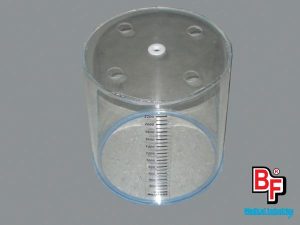 BF405 - Tubo de acrílico para espirómetro de respirador Puritan Bennett MA1