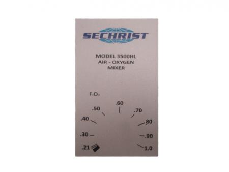 Frente de blender 3500HL para Sechrist.  BF690 Partes para respiradores