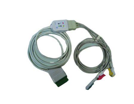 BF740 – Cable ECG 3 derivaciones para monitor  GE Datex Ohmeda – Marquette Cables, sensores, broches, diodos y conectores