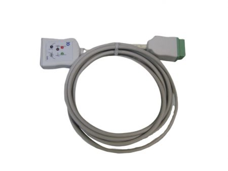 BF745 – Cable de ECG 3 derivaciones para monitor Nihon Kohden Cables, sensores, broches, diodos y conectores