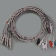 BF708C – Lead with clips. Medical Use. Cables, sensors and connectors